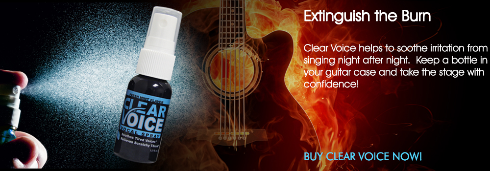 Clear Voice Vocal Spray ad banner