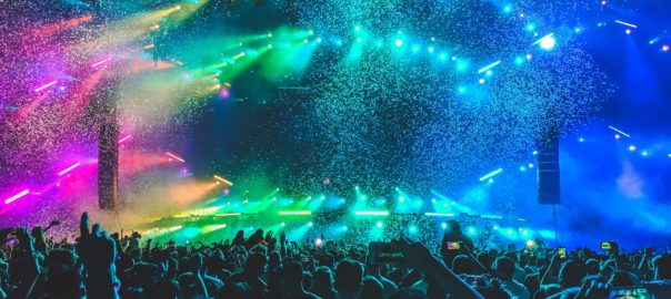 bright lights at an arena concert - top songs of the 2010s